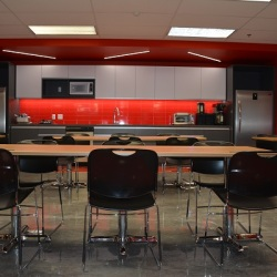 Very Fashionable Red Cafeteria